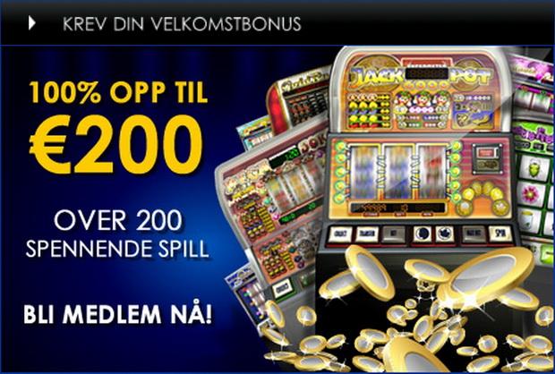 Meld deg inn i CasinoEuro i dag, og du kan dra fordelen av en saldoøkende velkomstbonus, da vi øker ditt første innskudd med 100% opp til €200.