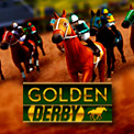 Golden Derby is a horse racing game. You can place multiple bets on each race. There are eight horses in each race, each wearing different colours and carrying different jockeys. The chance of a horse winning a race is influenced by its form in previous races.
