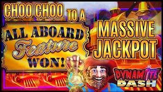 NEW SLOT HIGH LIMIT All Aboard ⋆ Slots ⋆Dynamite Dash MASSIVE HANDPAY JACKPOT ⋆ Slots ⋆Piggy Pennies