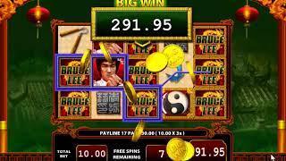 Bruce Lee Dragon's Tale slots - 468 win!