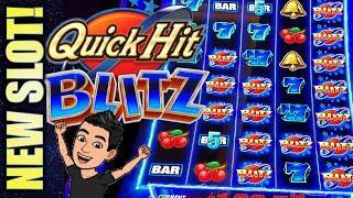 •NEW SLOT!• QUICK HIT BLITZ - BLITZ BLITZ BLITZ! Slot Machine Bonus Win! (SG)