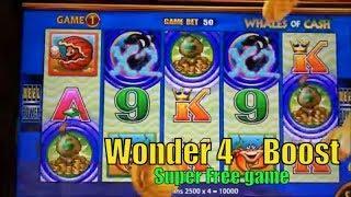 •NEW ! WONDER 4 BOOST•BIG !! Boost to Extreme Free game•Wonder 4 Boost Slot machine•彡