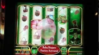 Wizard of oz ruby slippers slot machine wms