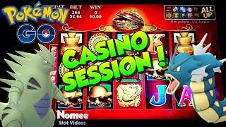 •PokeCASINO!!!• Playing Pokemon Go in the Casino! • 88 Fortunes Slot Machine ••
