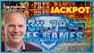 OVER 500X JACKPOT! OVER 125 FREE GAMES on Buffalo Diamond Slot - INCREDIBLE!