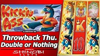 Kick'n Ass Slot - TBT Double or Nothing, Big Win Free Spins Bonus