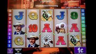 Rawhide a konami game slot machine bonus win
