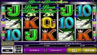 Free Break da Bank Again Slot by Microgaming Video Preview | HEX