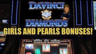 GIRLS AND PEARLS! DaVinci Diamonds Slot Machine Bonuses