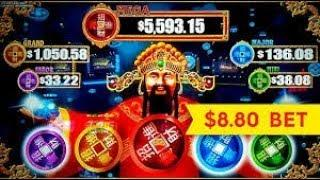 $8.80 bet BIG WIN WMS Reel Riches High Class slot machine pokie  free spin bonus