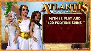 Atlantis City of Destiny with £20 Fortune Spins