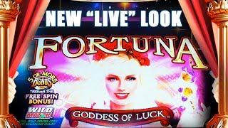 FORTUNA GODDESS OF LUCK *NEW LIVE LOOK* NICE BONUS FEATURE - Slot Machine Bonus