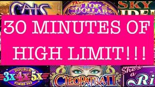 **30MINS of HIGH LIMIT** 10,000 SUBSCRIBERS!! •LIVE PLAY• Slot Machine in Vegas/Cali