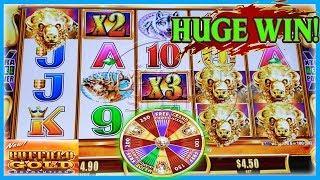 HUGE WIN ON BUFFALO GOLD REVOLUTION SLOT MACHINE • MAX BET BONUS
