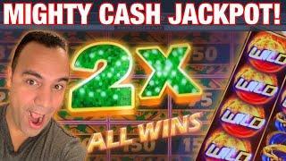 Mighty Cash Las Vegas JACKPOT HANDPAY!! • • •   6 Games, all BONUS ACTION!! ••