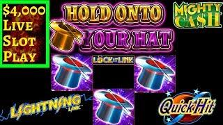 $4,000 In High Limit Room PART-2 ! $30 Max Bet Bonus On Hold Onto Your Hat & More Slot Machines