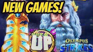 NEW GAMES! OLYMPUS STRIKES & LIVE IT UP-BONUSES