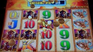 Buffalo Gold Slot Machine Bonus + Retriggers - 18 Free Games with Buffalo Changes - Nice Win