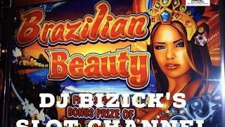 *~ MAX BET FREE SPIN BONUS ~* Brazilian Beauty Slot Machine ~ Throwback KONAMI ~ !!BIG WIN!! • DJ BI