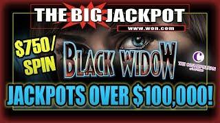 $750 / SPIN • OVER $100 THOUSAND IN JACKPOTS • with The Big Jackpot • TheBigJackpot