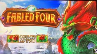 Fabled Four • Live Play • Bonus Spins • Kickapoo Lucky Eagle Casino