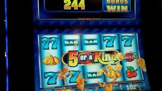 Quick Hit Wild Blue Slot Machine Bonus - 10 Free Games with 2x Pays