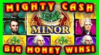 BIG MONEY • MIGHTY CASH • WINS PRESIDENTS & TIGERS! • BIG BETS & BIG WINS! • LIVE CASINO PLAY