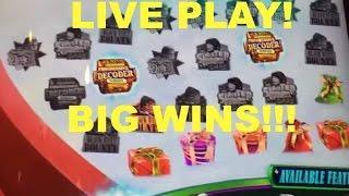 BIG WINS!!! LIVE PLAY and Bonuses on A Christmas Story Slot Machine
