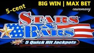 STARS AND BARS Slot | QUICK HITS - BIG WIN! 5-cent | MAX! - Slot Machine Bonus