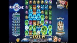 Reactoonz Slot - 15 Greens x2 BIG WIN!