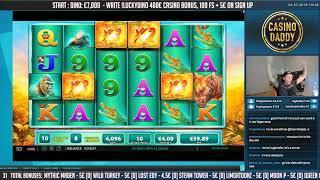 BIG WIN!!! Raging Rhino HUGE WIN - Bonus round - free spins (Online slots)