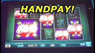 HANDPAY: High Limit Piggy Bankin - live play and bonuses!