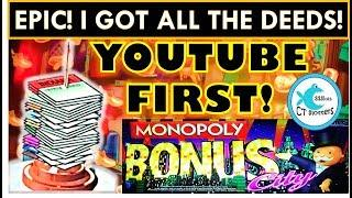 •PERFECT PICKING & YOUTUBE 1st!• EPIC WIN •  MONOPOLY BONUS CITY Slot Machine