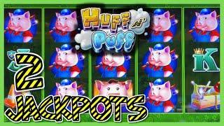 HIGH LIMIT Lock It Link Huff N' Puff (2) HANDPAY JACKPOTS ⋆ Slots ⋆$50 BONUS ROUNDS Slot Machine Casino