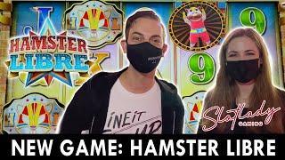 ⋆ Slots ⋆ PREMIERE of Hamster Libre ⋆ Slots ⋆ Slot Lady & Brian at Plaza Casino