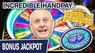 ⋆ Slots ⋆ INCREDIBLE HANDPAY: ⋆ Slots ⋆ ⋆ Slots ⋆ Double Diamond: Wheel of Fortune HIGH-LIMIT Slot M