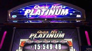QUICK HIT PLATINUM Slot Machine - 3 Machines - 3x Bonus - Live Play - Max Bet