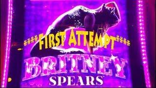 Aristocrat - Britney Spears Slot Machine *** First Attempt *** : Britney Spin & Bonus on $1.00 bet.