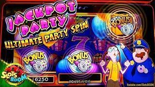 SUPER BONUS!!! Jackpot Party Groovy Grape & Far Out Orange 1c Wms Slots