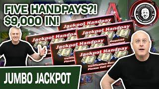 ★ Slots ★ FIVE HANDPAYS!? ★ Slots ★ $9,000 Into Cash Cove = In-SANE SLOT SESSION!