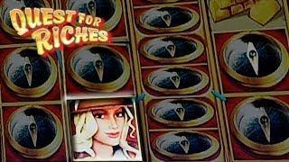 Quest for Riches - Slot Machine Bonus - RETRIGGERS!