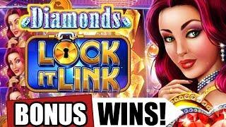 Lock It Link Diamonds Slot Machine | Bonus Wins | From Live Play at The Meadows Casino