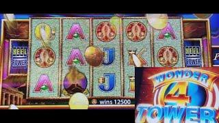 WONDER 4 TOWER 5 Dragons & Pompeii Slot Machines Max Bet  Bonuses(•) ! Live Slot Play !