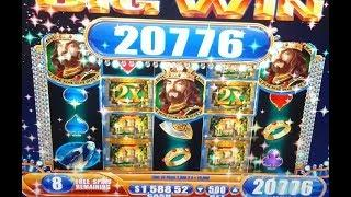 $25 MAX BET - BONUS Jackpot HAND PAY + BIG WINS + Live Play - The King and the Sword Slot Machine
