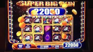 WMS- Cirque du Masquerade slot machine Super Big Win