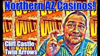 • ARE WE LUCKY? •  MAX BET SLOT PLAY!  •  CLIFF CASTLE & TWIN ARROWS!