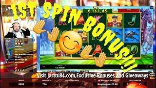 First Spin Bonus!! Super Big Win From Bookie Of Odds!!