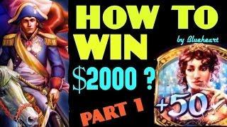 •HOW TO WIN $2000?• NAPOLEON & JOSEPHINE slot machine 7 BONUS WINS- PART 1