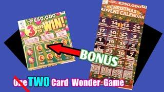 Scratchcards......Two Card Wonder Game......Advent Calendar Card and 3 Ways to Win Cards...and•