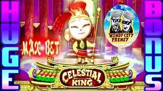•CELESTIAL KING•HUGE WIN!! ITS AMAZING, MAX BET•RUDIES CRUISE WITH THE BOYZ!!
